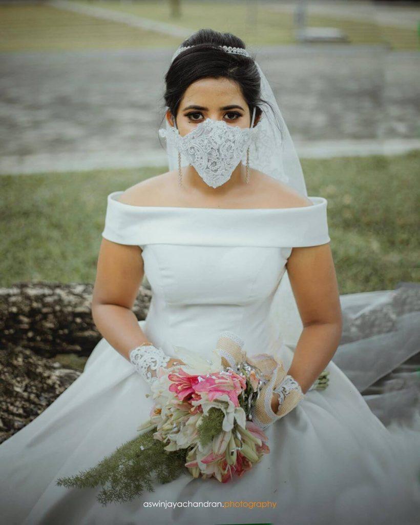 indian wedding , the fashion post , #indianbrides #coronawedding #bridalfacemask #facemask , face mask for weddings , wedding blog in india , lehenga design , gowns for indian wedding reception