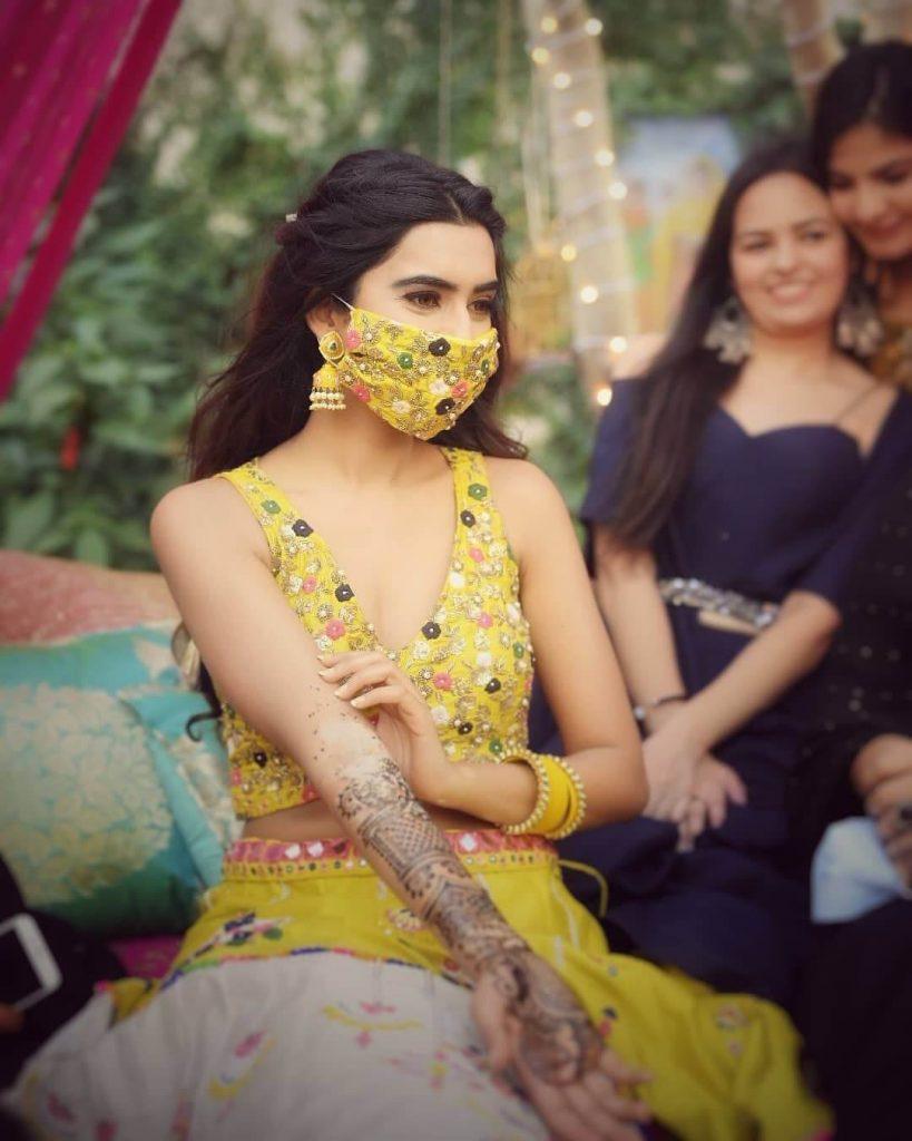 blogger bride , indian bloger weddings , the fashion post #theweddinpostofficial #theweddingpost , yellow lehenga