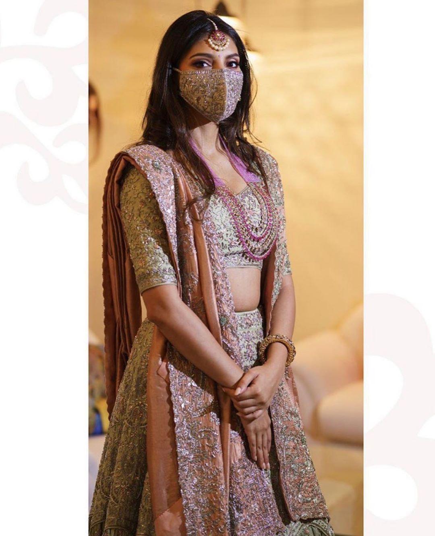 indian bridal mask , corona wedding , lockdown wedding , the fashion post india , the wdedding post