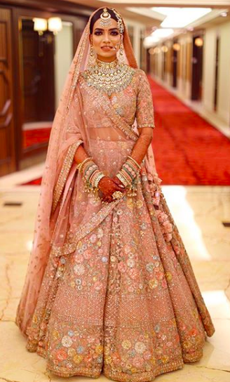 indian bridal lehenga , designer lehenga , weddings sabyasachi , sabyasachi lehenga , pink sabyasachi lehenga , latest designer lehenga , indian weddings , chooda , red chooda