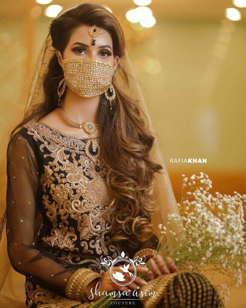 indian bridal mask , weddings #bridalmask #indianbride #curls #bridalwear #lehenga